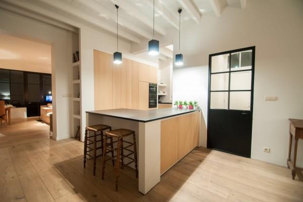 Schilderen keuken te Dudzele Maat voor Maat interieur