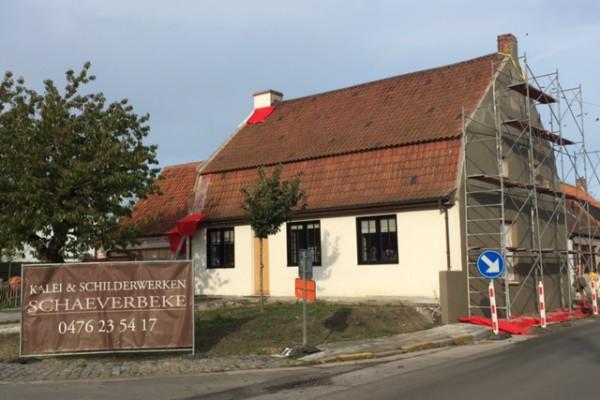 Kalei en schilderwerken te Moerkerke