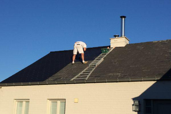 schilderen leien dak